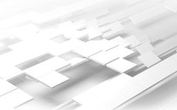 White geometric background. White geometric architectural construction background - 3D render stock illustration