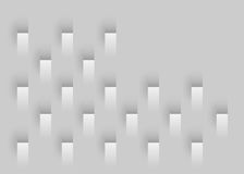 White Geometric Background. Geometric Background with gradients and perfect angles Royalty Free Stock Photography