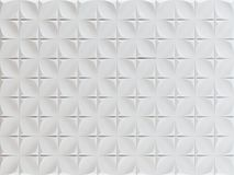 White geometric background textures. Tile with 3d pattern. 3D render stock illustration