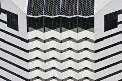 White Geometric Building. A Very Angular and Geometric White Building stock photos