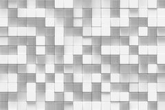 White geometric cube, cubical, boxes, squares form abstract background. Abstract white blocks. Template background for. Your design. 3d rendering stock illustration