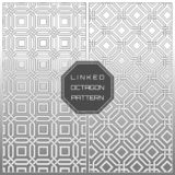 White Geometric Linked Octagon Pattern Background.  vector illustration