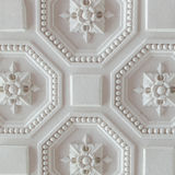 White geometric ornamental pattern of ceiling for background, square. White geometric ornamental pattern of ceiling for background Royalty Free Stock Image