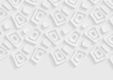 White geometric paper abstract background Stock Images