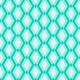 White Geometric Pattern on Blue Background Stock Photos