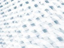 White geometric pattern, double exposure 3d Stock Images
