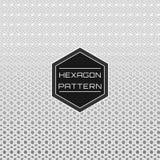White Geometric Seamless Linked Hexagon Line Pattern Background.  stock illustration