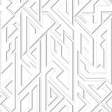 White geometric seamless pattern. Vector eps 10 Royalty Free Illustration