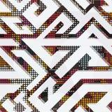 White geometric seamless pattern. Vector eps 10 Stock Illustration