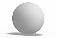 White geometric shapes sphere Stock Images