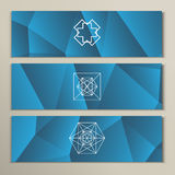 White geometric shapes on a triangular background Royalty Free Stock Photos