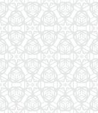 White geometric texture in art deco style. For Christmas and holiday decor or wedding invitation background. Seamless vector pattern for winter fashion Stock Photos
