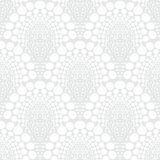 White geometric texture in art deco style Stock Photo