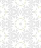White geometric texture in art deco style. White, silver and gold geometric texture in art deco style with abstract stars and snowflakes for Christmas and vector illustration