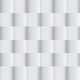 White geometric texture. Background gray squares . Vector illustration Stock Photos