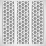 White Geometric Texture. Stock Image