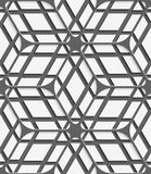 White geometrical detailed with gray net on gray seamless patter Stock Image