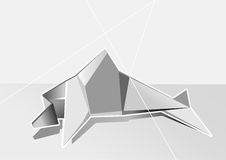 White geometrical dolphin Stock Photo