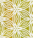 White geometrical flower on mesh seamless pattern Royalty Free Stock Image