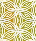 White geometrical flower on mesh seamless pattern Royalty Free Stock Image
