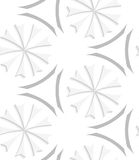 White geometrical flowers and gray elements seamless pattern Royalty Free Stock Images