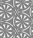 White geometrical flowers and stars seamless pattern Stock Photos