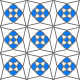 White geometrical ornament with gray and blue Stock Images