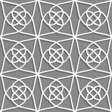 White geometrical ornament on gray Stock Photos