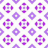 White geometrical ornament with purple squares Stock Images