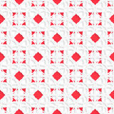 White geometrical ornament with red textured details Stock Photo
