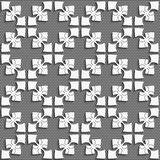 White geometrical ornament on textured dark gray Stock Photos