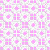 White geometrical ornament textured with pink Royalty Free Stock Photos