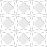 White geometrical ornament with triangles Royalty Free Stock Images
