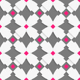 White geometrical ornament with white crosses and pink squares o Stock Photo