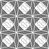 White geometrical ornament with white layering on gray Stock Images