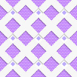 White geometrical ornament with white net and dots purple textur Royalty Free Stock Photos