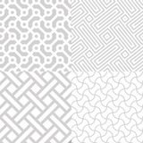 White geometrical textures set Stock Photography