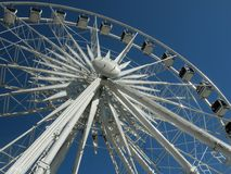 White giant ferris under Cape Town blue sky Royalty Free Stock Image