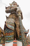 White Giant Guardian in Wat Phra Kaew temple Royalty Free Stock Image