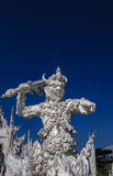 White Giant statue. White statue at Wat Rong Khun, Chiang Rai, Thailand Royalty Free Stock Photography
