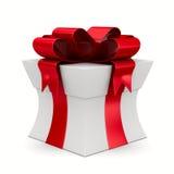 White gift box. 3D image stock illustration