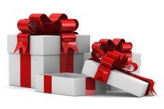 White gift box. 3D image Stock Image
