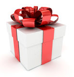 White gift box. 3D image. Stock Photography