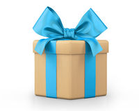 White gift box. 3d  render Royalty Free Stock Photos