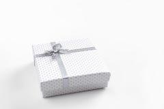 White gift box isolated Royalty Free Stock Photos