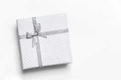 White gift box isolated top view Stock Photo