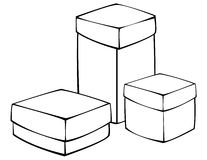 White gift box isolated on white Stock Photography