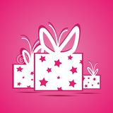 White Gift Box. Made in vector Royalty Free Stock Photos