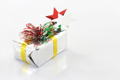 White gift box. Gift box that is placed on a white background Royalty Free Stock Images