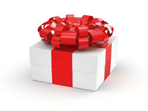 White gift box Royalty Free Stock Image